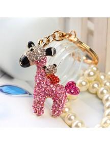 WA2512 - Gantungan Kunci Diamond Rusa ( Pink ) #C77