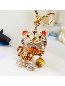 WA2519B - Gantungan Kunci Diamond Kucing ( Kuning ) #C77