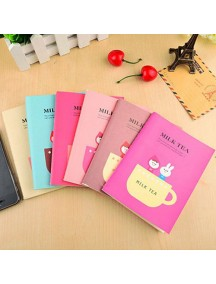 WA2554 - Notepad Memo Cute Milk Tea (Random Color)