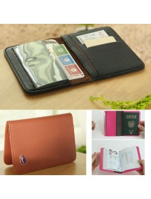 WA2602C - Dompet Cover Passport Travel (COKLAT)