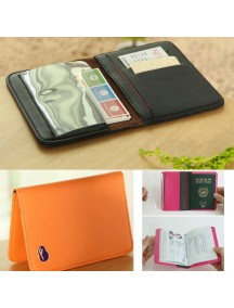 WA2602D - Dompet Cover Passport Travel (ORANGE)