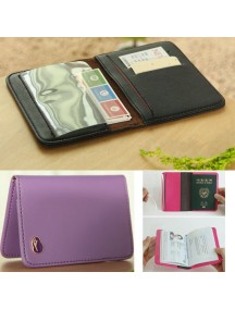 WA2602E - Dompet Cover Passport Travel (UNGU)