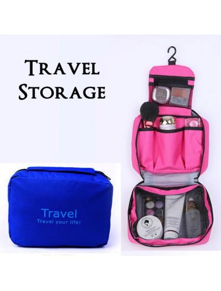 WA2673 - Storage Multifungsi Travel Portable Bag (Biru)