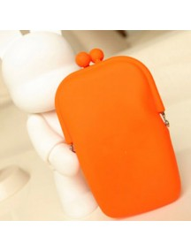WA1125 - Dompet Fashion Serbaguna Silicone (ORANGE)