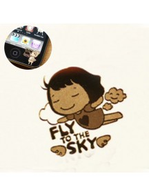 WA2451E - Sticker Anti Radiasi Korea Gold 24K (Fly Sky)