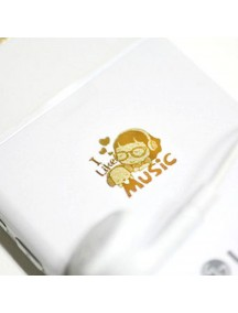 WA2451G - Sticker Anti Radiasi Korea Gold 24K (I Like Music)