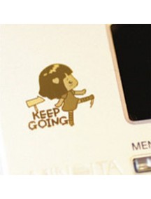 WA2451H - Sticker Anti Radiasi Korea Gold 24K (Keep Going)
