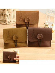 WA2540C - Dompet Fashion Paris ( Coklat Tua )