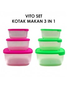 WA2977W - Kotak Makan Set 3 in 1 Vito