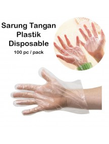 WA3018 - Sarung Tangan Plastik Higienis Disposable 100 pc